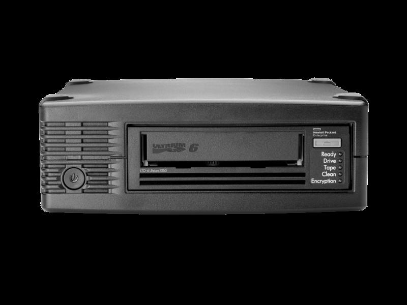 HPE StoreEver LTO6 Ultrium 6250 SASテープドライブ(外付型) Center facing