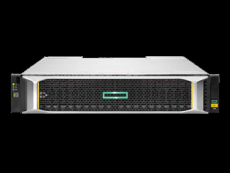 HPE MSA 2060 16GbファイバーチャネルSFFストレージ Center facing