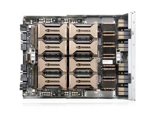 HPE Apollo 6500 Gen10 Plus 系统 Top view open