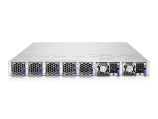 适用于 Cray 系统的 HPE Slingshot 200Gb 64 端口 QSFP-DD 1U 交换机 Rear facing