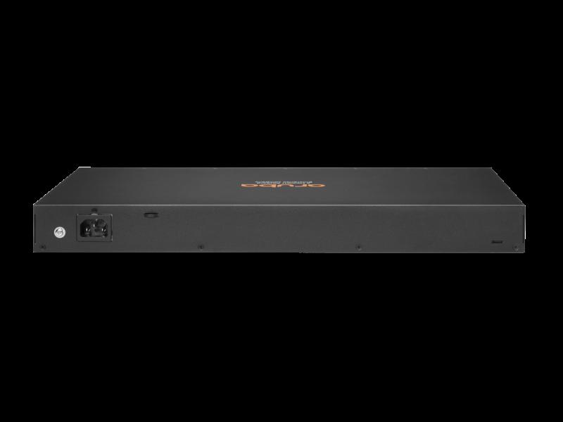 Aruba 6100 24G 第 4 类 PoE 4SFP+ 370 瓦交换机 Rear facing