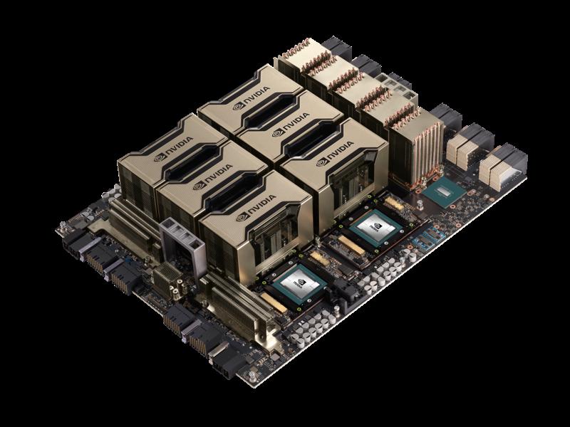 Carte de base NVIDIA A100 HGX x8 GPU Refroidie par air pour HPE Center facing