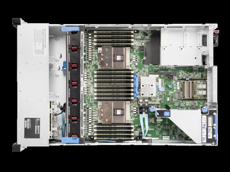 Serveur HPE ProLiant DL385 Gen10 Plus v2 7313 2.9 GHz 16 cœurs 1 Processeur 32GO-R 8 lecteurs à petit facteur de forme Module d'alimentation 800 W Top view open