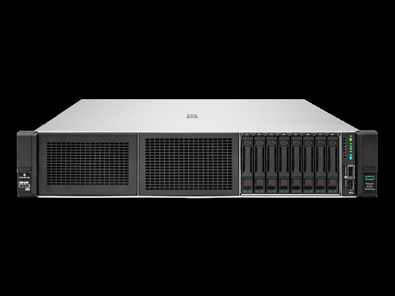 Serveur HPE ProLiant DL345 Gen10 Plus 7232P 3.1GHz 8 cœurs 1P 32GO-R 8 lecteurs à grand facteur de forme Module d'alimentation 500 W Center facing