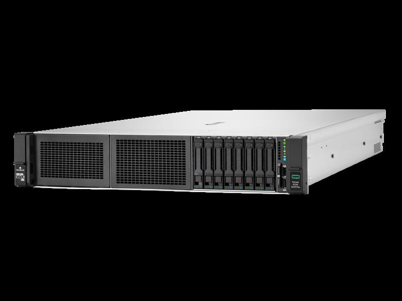 Serveur HPE ProLiant DL345 Gen10 Plus 7232P 3.1GHz 8 cœurs 1P 32GO-R 8 lecteurs à grand facteur de forme Module d'alimentation 500 W Left facing