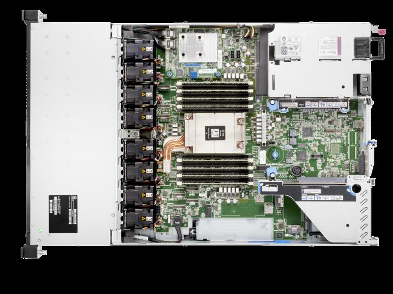 HPE ProLiant DL325 Gen10 Plus v2 7313P 3.0GHz 16-core 1P 32GB-R 8SFF 500W PS Server Top view open