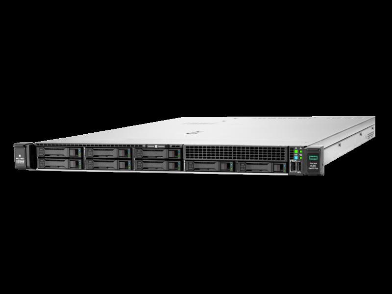 Serveur HPE ProLiant DL365 Gen10 Plus 7262 3.2 GHz 8 cœurs 1 Processeur 32GO-R 8 lecteurs à petit facteur de forme Module d'alimentation 500 W Left facing