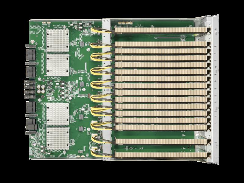 适用于 HPE 产品的 NVIDIA A10 24 GB PCIe 图形加速器 Top view open