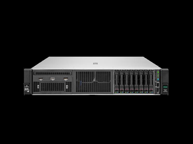 Serveur HPE ProLiant DL380 Gen10 Plus 4314 2.4 GHz 16 cœurs 1 processeur 32 Go-R P408i-a NC BCM57412 8 lecteurs à petit facteur de forme Module d'alimentation 800 W Center facing