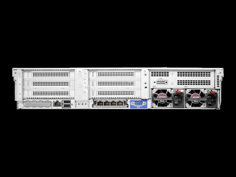 HPE ProLiant DL380 Gen10 Plus 服务器 Rear facing