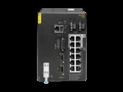 Commutateur à montage DIN Aruba 4100i 12 ports 1GbE (8 ports POE Classe 4 + 4 ports POE Classe 6) 2 ports SFP+